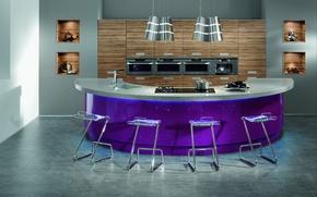 Picture design, house, style, room, Villa, interior, kitchen-computer