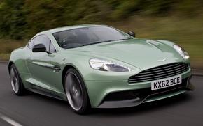 Picture green, Aston Martin, supercar, Vanquish