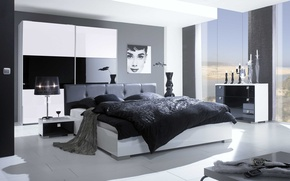 Picture design, room, bed, interior, bedroom