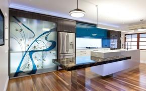 Picture light, metal, interior, refrigerator, kitchen, laminate