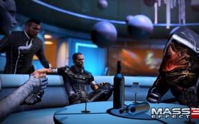 "Picture Shepard, Mass Effect 3, Urdnot Rex, DLC ""Citadel"", Liara T Soni, Booze, James VEGA"