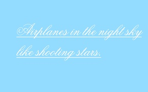 Picture music, background, blue, The inscription, airplanes