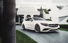 Picture car, white, amg, hq Wallpapers, William Stern, mercedes s63