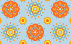Picture flowers, pattern, paint, petals