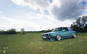 Picture field, the sky, bmw, BMW, cloud, Golf, golf, e30