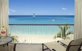 Picture hotel, room, balcony, ocean view