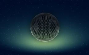 Picture Mesh, Sphere, Stars, Glow