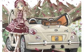 Picture machine, anime, girl