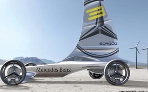 Picture concept, mercedes-benz, electric, vehicle, formula zero racer