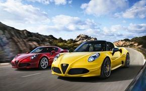 Picture Rosso, Alfa Romeo 4c, Alfa Romeo 4C Spider, Alfa Spider, Alfa 4c, Alfa 4C 2015, …