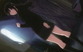Picture girl, anime, brunette, form, girl, legs, anime, brunette, school, cutie, haruka, morishima, amagami