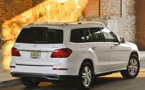 Picture machine, yard, Mercedes, white, 350