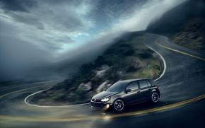 Wallpaper road, Volkswagen, rozmycie