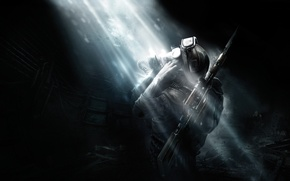 Picture darkness, metro, people, soldiers, monsters, stalk, Metro: Last Light