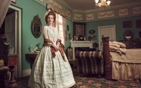 Picture girl, room, vintage, Victorian Journey