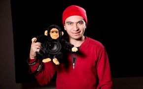Picture 2016 is the year, Red hat, Monkey