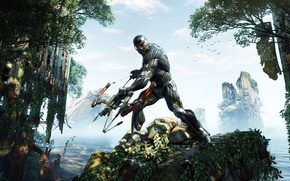 Picture Apocalypse, bow, costume, Crysis 3