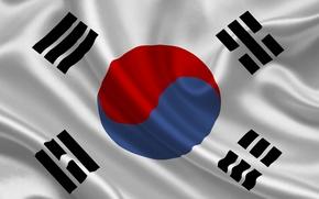 Picture flag, South Korea, south korea