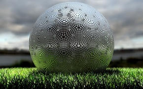 Picture field, grass, The ball