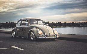Picture Volkswagen, Beetle, Road, Lough