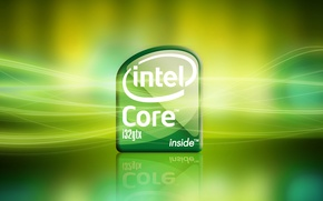Picture light, green, background, core, intel, processor, i32gtx, Intel