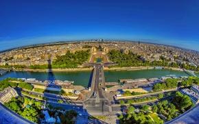 Picture France, Paris, building, road, shadow, horizon, Hay