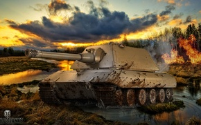 Picture game, weapons, game, weapon, world of tanks, world of tanks, tank, E-100