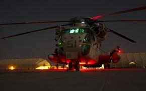 Picture night, USA, CH-53D, Sea, Marine corps, Stallion