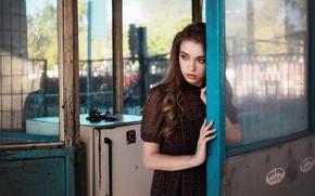 Picture girl, mood, the door, Waiting