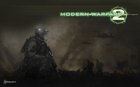 Picture fighters, helicopters, Call of duty, Modern warfare 2, Infinity War