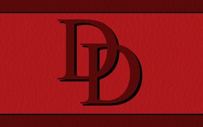 Picture red, logo, symbol, Daredevil, Marvel Comics