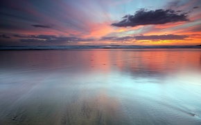 Wallpaper new Zealand, seascape, sunset, Last Light, auckland new zealand, water, the ocean, sky, clouds, sunset