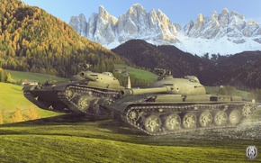 Picture mountains, tank, USSR, tanks, WoT, World of tanks, tank, World of Tanks, tanks, THE T-62A, …