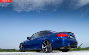 Picture road, the sky, blue, BMW, BMW, blue, vossen