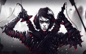 Picture face, sword, warrior, art, costume, guy, swordsman