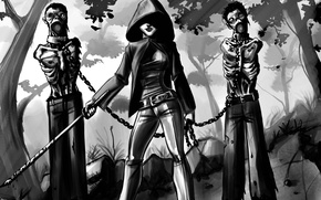 Picture art, zombies, the walking dead, walking dead, Michonne