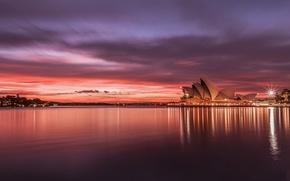 Picture sunset, the city, Sydney, Australia, Australia, Sydney, Opera house