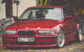 Picture tuning, bmw, BMW, red, stance, E36