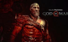 Picture game, fighter, armor, blizzard, Kratos, God of War, survivor, leather, Spartan, blade, knife, warrior, hunter, ...