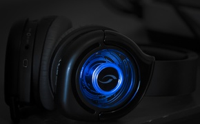 Picture macro, Headphones, Blue Ambiance
