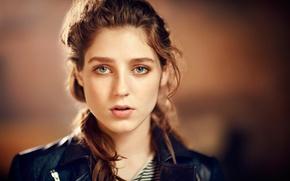 Picture girl, face, singer, brown hair, Birdy, Jasmine van den Bogaerde