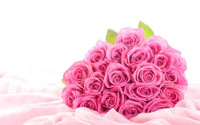 Picture flowers, roses, bouquet, silk, fabric, buds, sheets, widescreen Wallpaper, pink flowers, the Wallpapers, hd Wallpapers, …