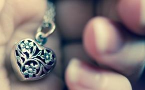 Wallpaper background, Wallpaper, mood, heart, hand, pendant, heart, accessory, the necklace, Ukraine