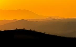 Picture hills, silhouette, solar