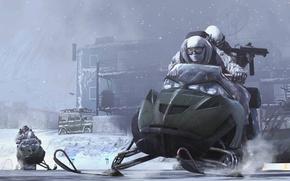 Picture winter, war, the game, modern warfare 2