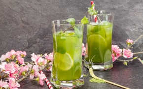 Picture lime, glasses, drink, mint