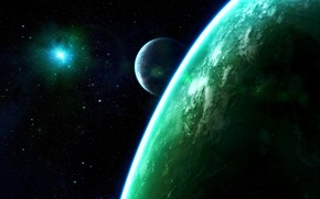 Wallpaper the universe, planet, stars, a supernova explosion