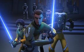 Picture heroes, animated series, Star Wars Rebels, Star wars Rebels, Ezra Bridger, Kanan Jarrus