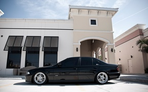 Wallpaper BMW, Sedan, drives, Black, E39