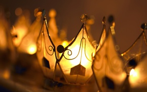 Picture light, gold, the evening, blur, softness, lanterns